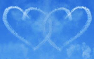 Interlinking Skywriting Hearts