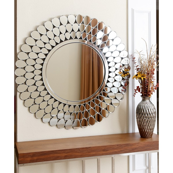 ABBYSON-LIVING-Radiance-Round-Wall-Mirror - Little Black ...