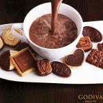 Godiva Hot Chocolate and Cookies